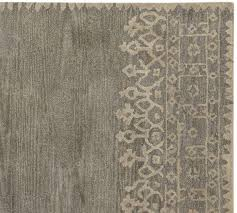 Ebay Pottery Barn Rug Pottery Barn Desa Bordered Wool Rug Gray 5 X8 Ebay