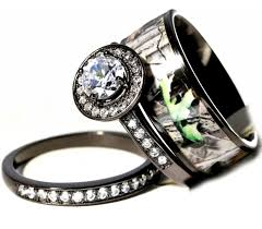 camo wedding rings his and hers his hers black white titanium entrancing camo wedding ring sets