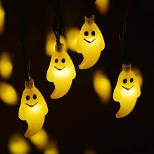 Halloween Window Lights Decorations - halloween 30led solar string lightsen light outdoor ghost image