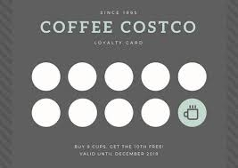 gray coffee loyalty card templates by canva