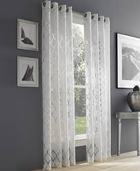 Sheer Grommet Curtains J Queen New York Geneva White Semi Sheer Grommet Curtain Panel