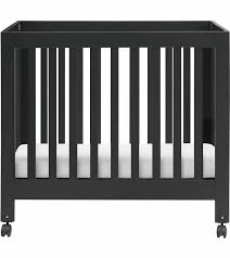 babyletto origami mini crib in black finish