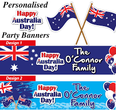 personalised australia day banners decorations