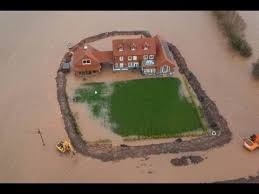 House With A Moat Man Builds Moat To Save Mansion House From Flood In Somerset Youtube