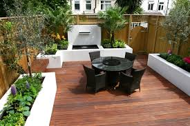 Modern Landscaping Ideas For Small Backyards by Contemporary Garden Designs Decking Outdoor Contemporary Wooden
