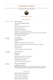 Sample Fitness Instructor Resume Personal Trainer Resume Samples Visualcv Resume Samples Database