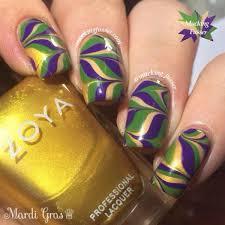 mardi gras nail mardi gras water marble 31 fantastic mardi gras nail ideas