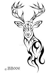 tatoo design tribal tribal deer tattoo by blackbutterfly006 on deviantart tattooed