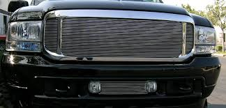 Rugged Ridge Billet Grille Inserts In Black T Rex Ford 99 04 Excursion Super Duty Grilles