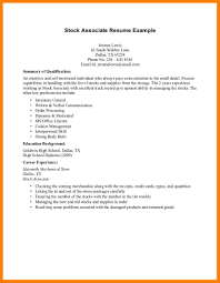 Stock Associate Job Description For Resume by 8 Cv Samples For Students With No Experience Joblettered