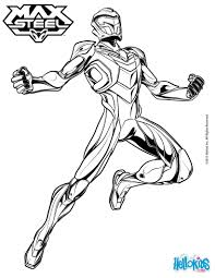 superhero max steel coloring pages hellokids com