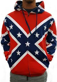 Flag Sweater Zip Up Confederate Rebel Flag All Over Hooded Sweatshirt