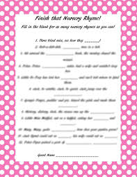 baby shower question baby shower nursery rhyme answers wedding