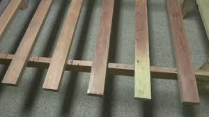 Simple Platform Bed Frame Plans by Making A Simple Wooden Bed Frame 20120604bedframe Youtube
