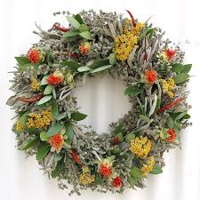 herb wreath safflower herb wreath creekside farms