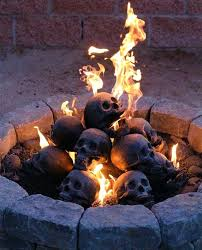 Ceramic Firepit Ceramic Pits Fireproof Human Skulls For Your Gas Fireplace
