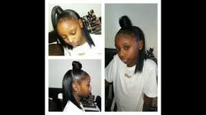Half Up Half Down Hairstyles Black Hair How To Half Up Half Down Sew In Appropriate For Little Girls