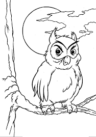 halloween owl coloring pages u2013 fun for halloween