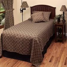 new primitive colonial black tan lover u0027s knot coverlet bedspread