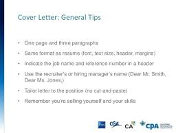 cover letter one page