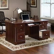 sauder edge water computer desk sauder edge water executive desk estate black superior executive