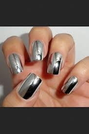 metallic nail foil wraps nail silver shiny metal nails shiny nails metallic