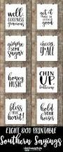 eight 8x10 printable southern sayings in classic black and white