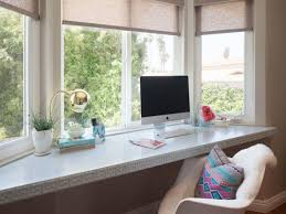 office den bay window bay window with built in desk trimmed with