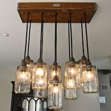 Diy Chandelier Lamp Mason Jar Hanging Lights With 18 Diy Chandelier Ideas Guide