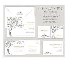 love birds wedding invitations sakura cherry blossom wedding