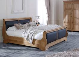 Oak Sleigh Bed Leather Sleigh Beds The Tuscany Sleigh Bed Revival Beds