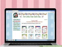 santa claus letters 3 ways to write a letter from santa wikihow