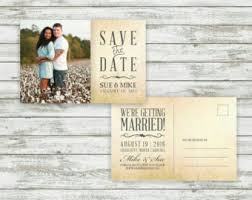 postcard save the date wedding save the dates etsy