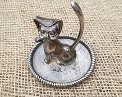 silver animal ring holder images Cat ring holder etsy jpg