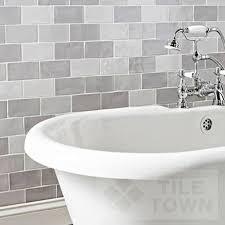 light grey brick tiles chic grey mix bathroom wall tile
