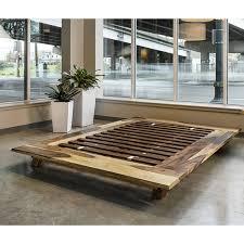 acacia zen platform bed queen terramai pdx
