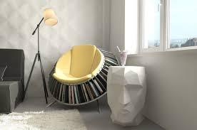 Reading Armchair Furniture Super Creative Round Reading Armchair With Bookshelf