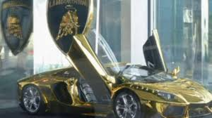 car lamborghini gold gold lamborghini worth 7 8m in dubai video dailymotion
