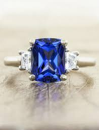 lab created engagement ring alamina lab created blue sapphire engagement ring ken design