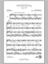 thanksgiving song choral satb sheet by by purifoy satb