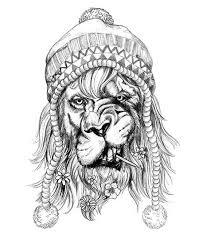 hipster black lion tattoo tattooforaweek temporary tattoo