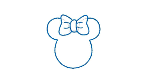 minnie mouse head outline free download clip art free clip art