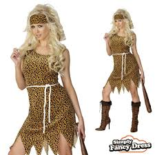 cavewoman halloween costumes ladies british jungle safari suit animal fancy dress costume