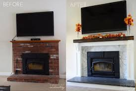 How To Update Brick Fireplace by 12 Brick Fireplace Makeover Ideas To Update Your Old Fireplace
