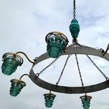 Hoop Chandelier Insulator Light Chandelier Wine Barrel Hoop 4 580 Lumen Bulbs