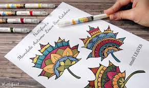 thanksgiving mandala autumn leaf placemat coloring page hattifant