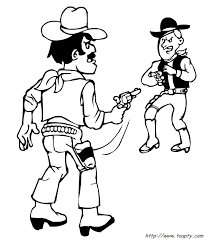 coloriages et dessins de cow boys à imprimer