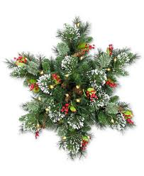 national tree company 32 wintry pine led snowflake swag with cones