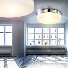 wohnzimmer deckenlampe led led 18 watt deckenleuchte nickel glas deckenlampe beleuchtung