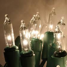 10 mini lights clear w green cord mini lights